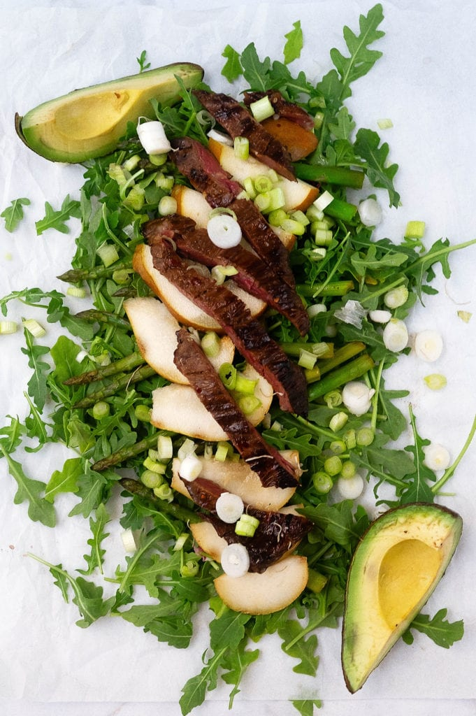 Asian pear-steak salad