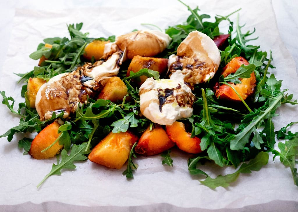 Summer Peach Burrata Salad