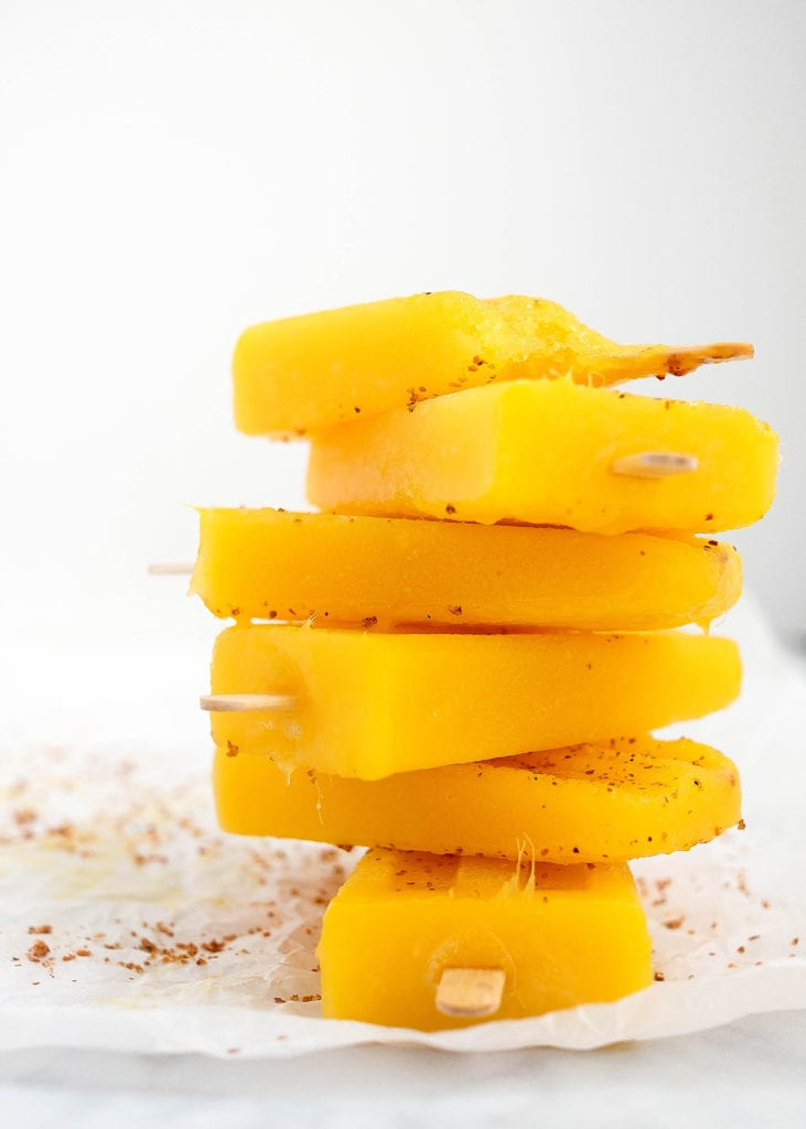 mango paletas with tajin