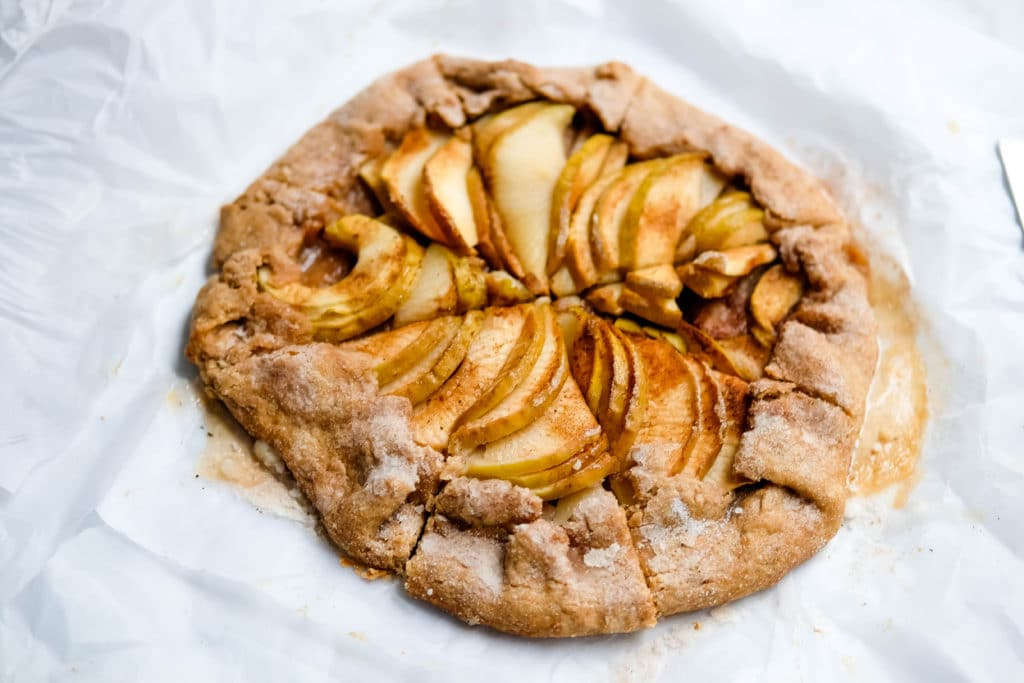 Recipe for a rustic, easy apple galette