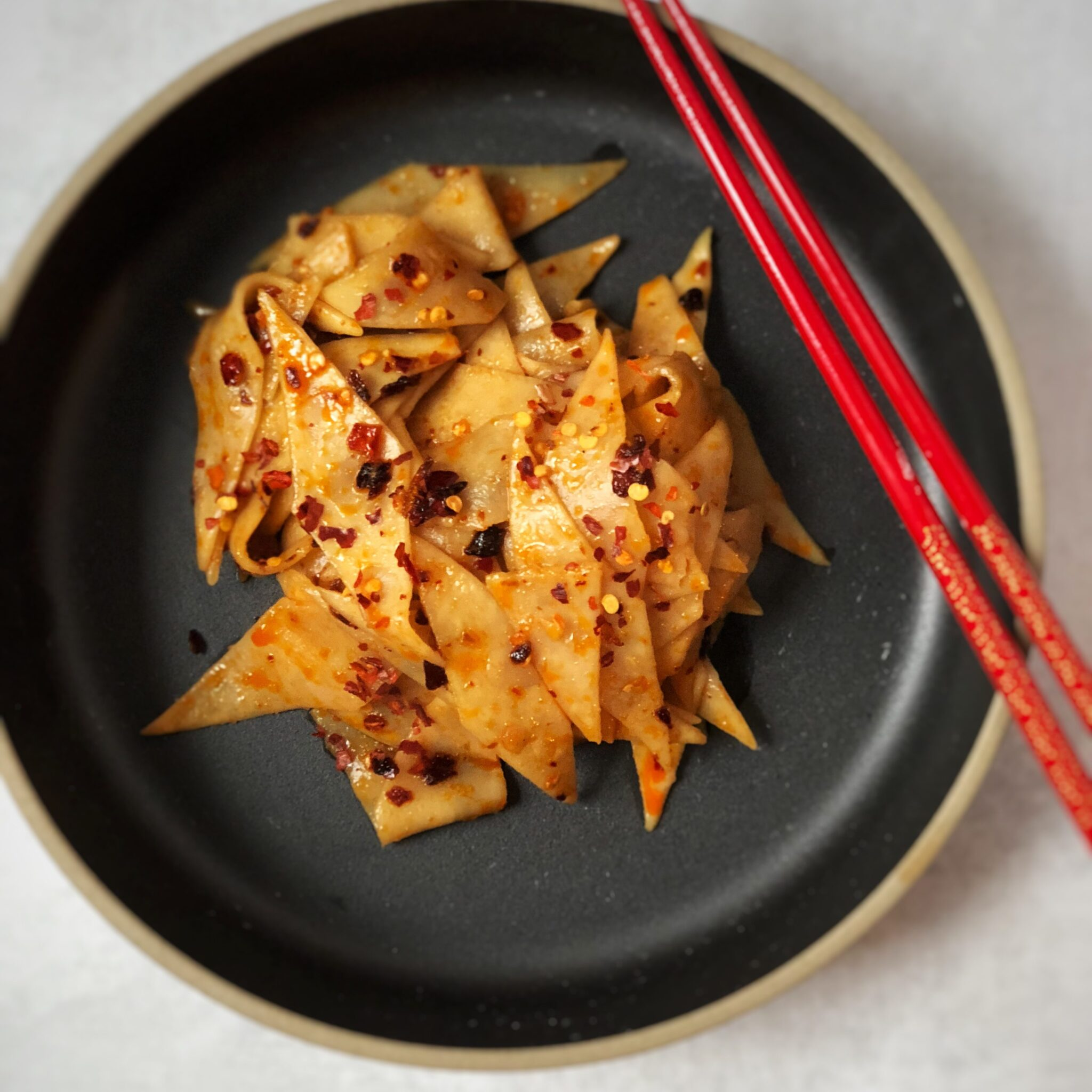 spicy noodles made with fresh noodles