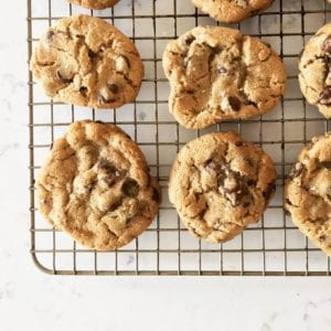 salted whole wheat chocolate chip cookies