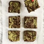 matcha marble brownies