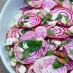 Chioggia beet salad