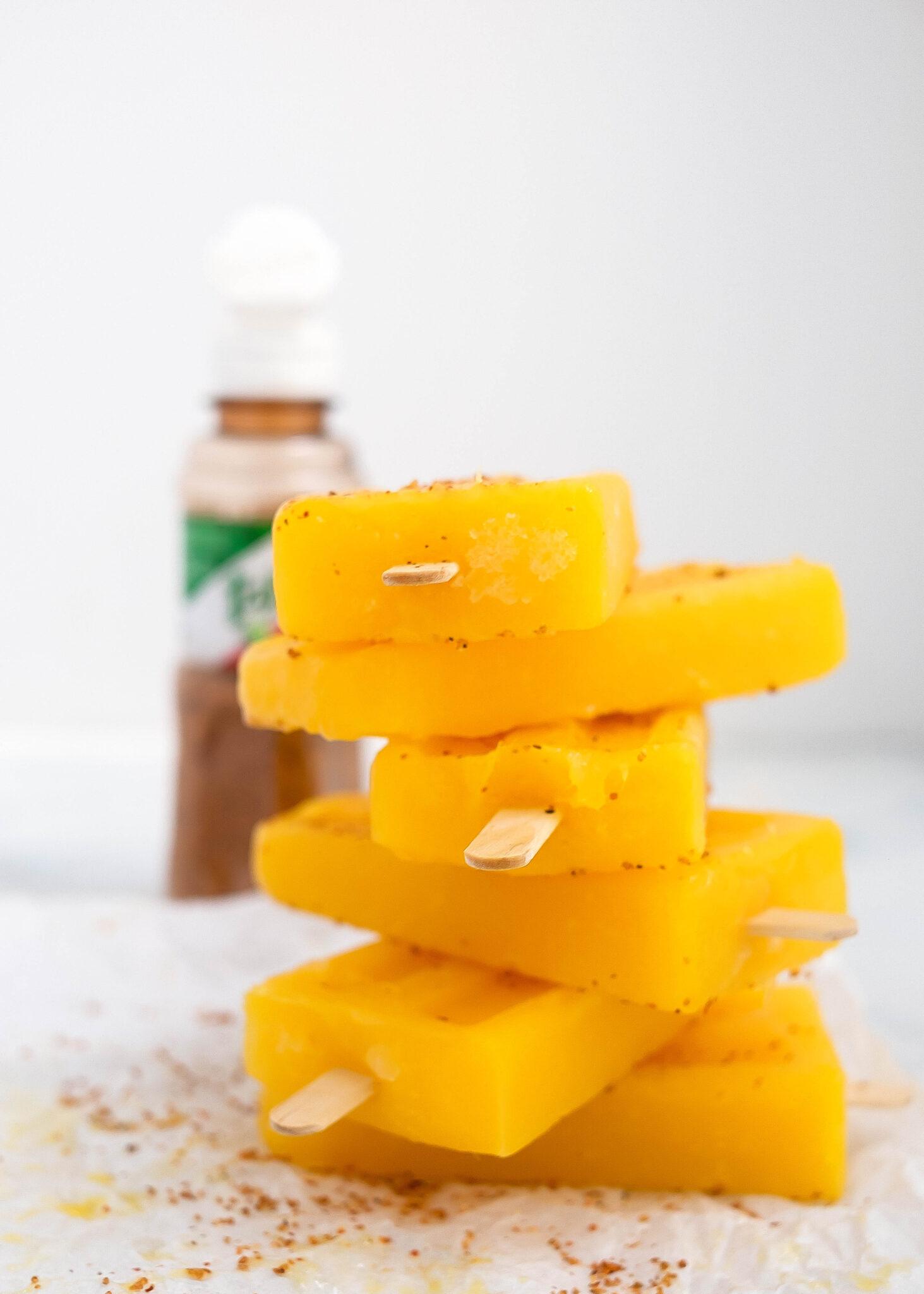 mango paletas with tajin