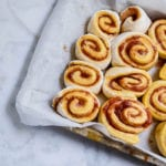 jam buns with labneh frosting
