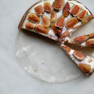 olive oil cake with figs and labneh