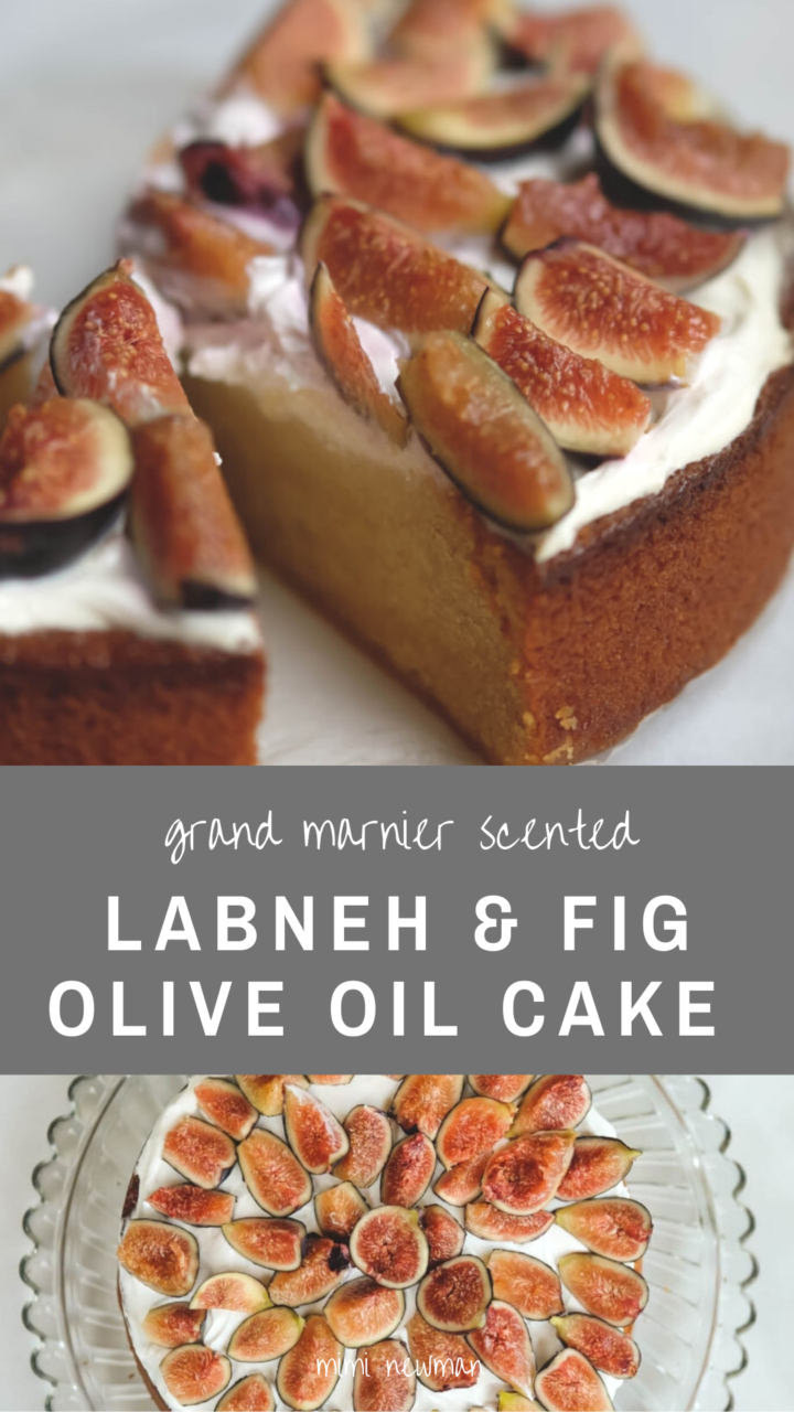 Olive Oil Cake with Frosting and Figs