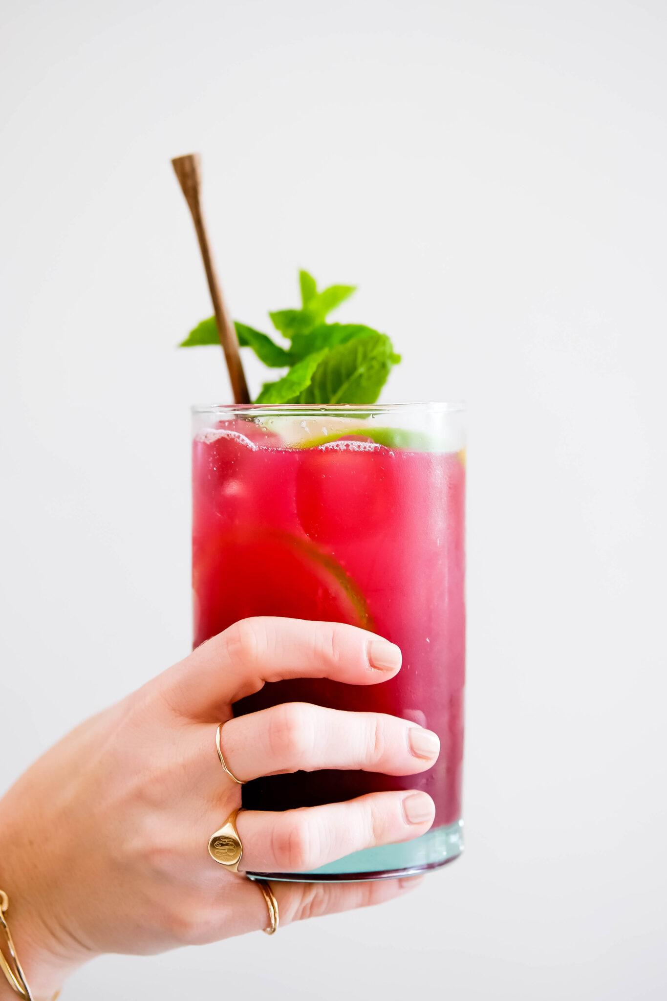 lime mint pomegranate drink