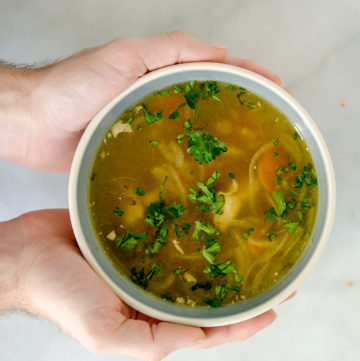 """""""Get Your Shit Together"""" chicken soup"""