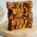 peanut butter banana bread - vegan, gluten free