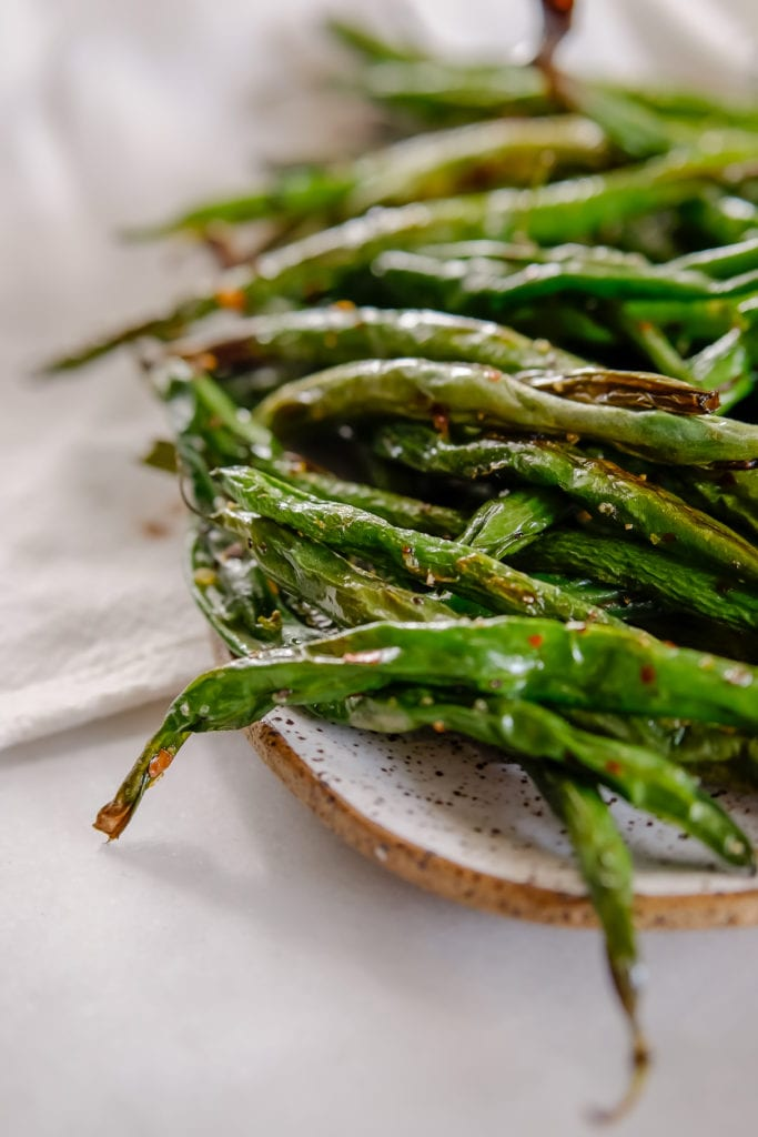 Dry Roasted Green Beans - Made in the Oven