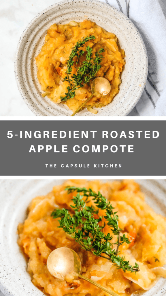 Recipe for 5-ingredient roasted applesauce