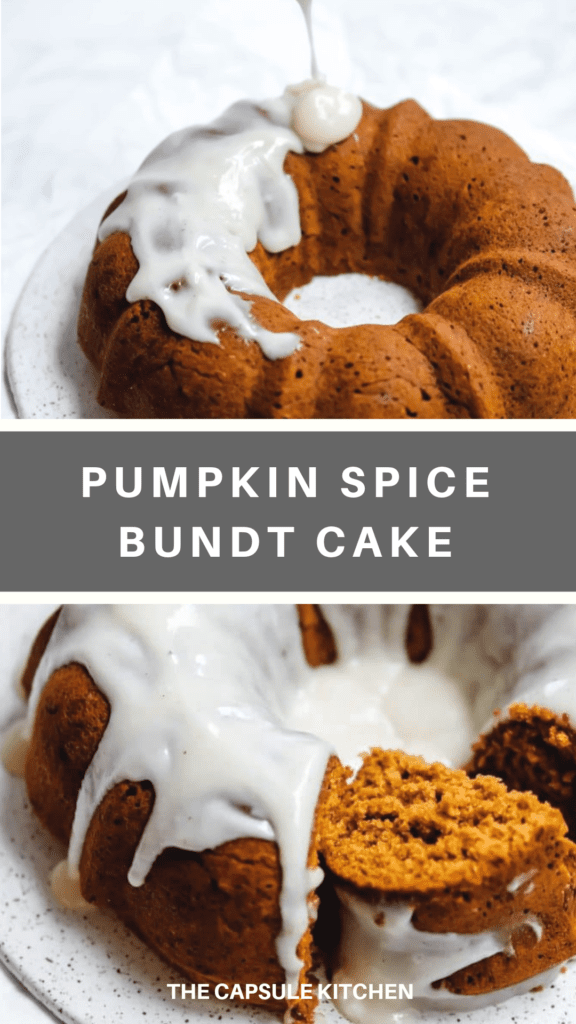 Recipe for a maple and pumpkin spice bundt cake