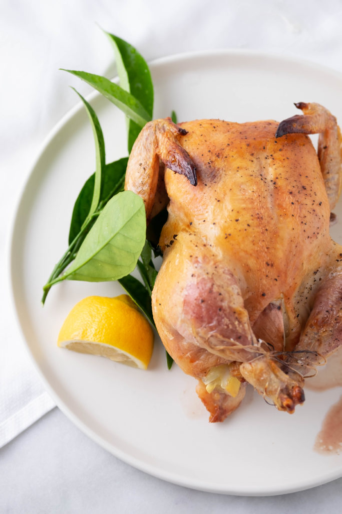 whole roasted chicken with lemon