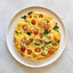 spinach and tomato frittata