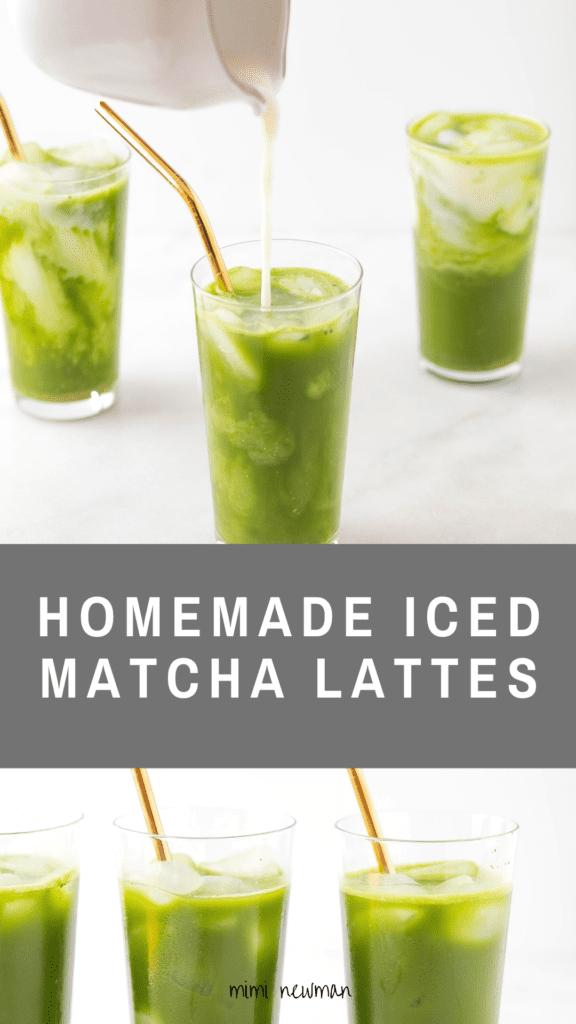 Homemade Iced Matcha Latte