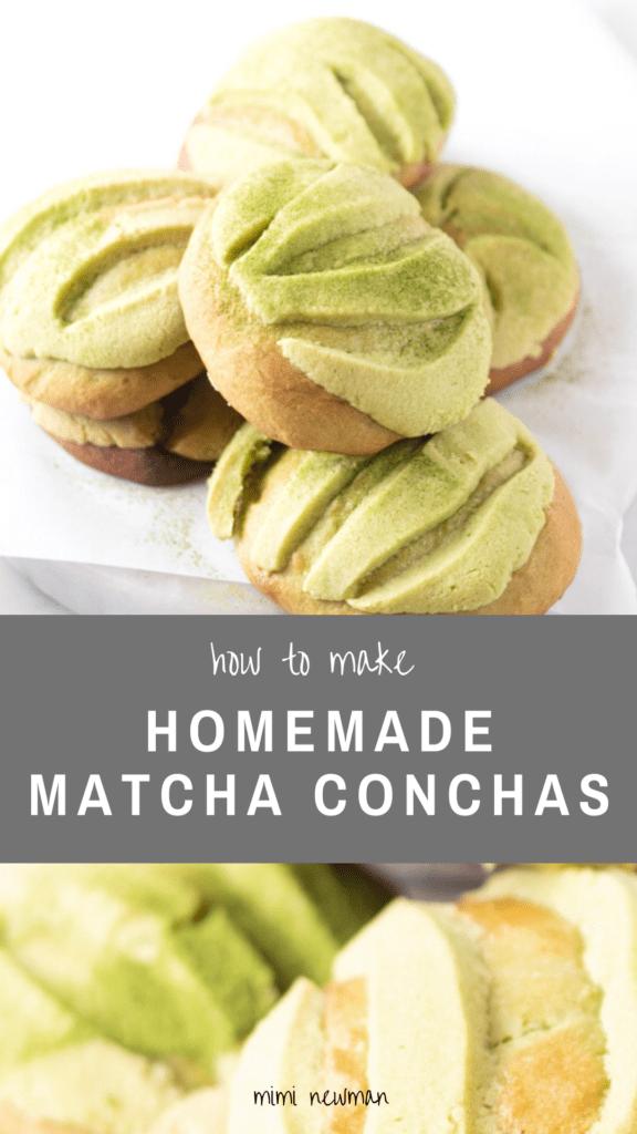 How To Make Matcha Conchas (Matcha Pan Dulce)