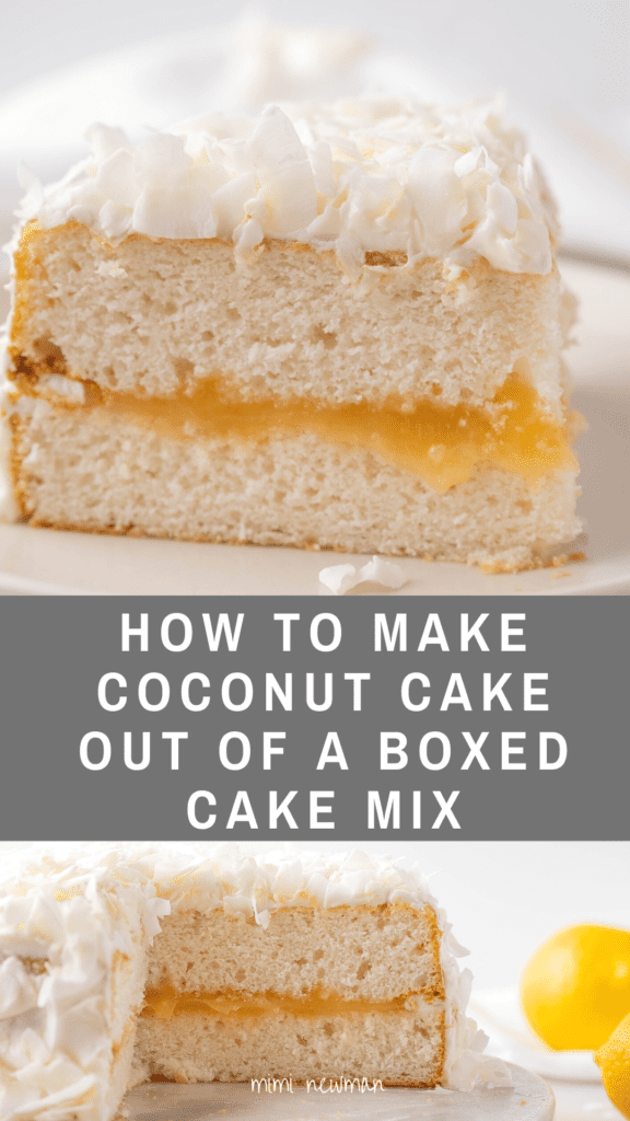 How to Make a Coconut Cake out of Boxed Cake Mix