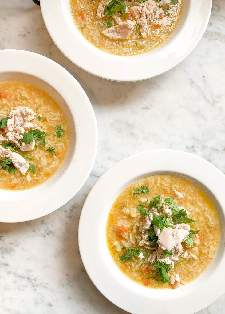 Miso Chicken and Rice Soup