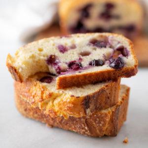 fresh blueberry brioche loaf