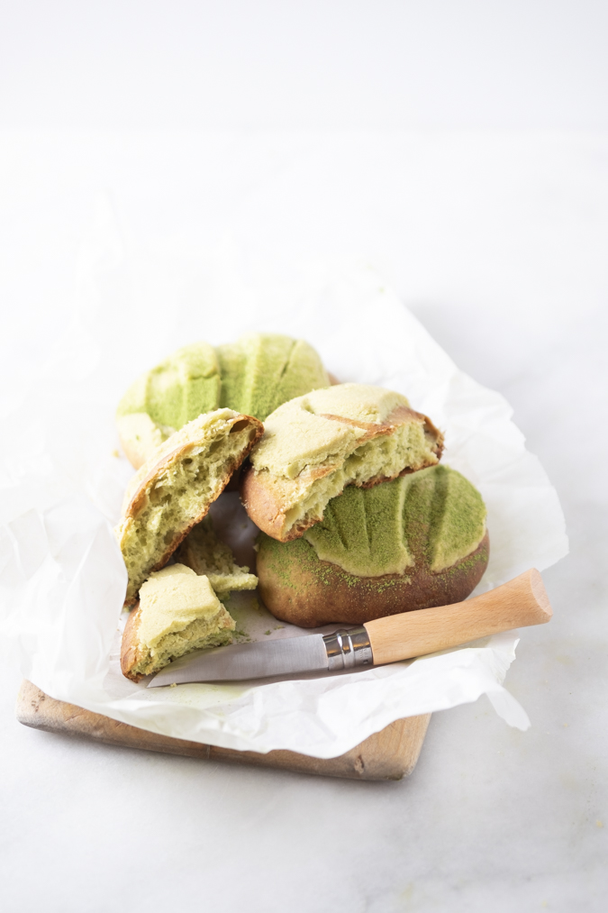 How To Make Matcha Conchas (Matcha Pan Dulce)