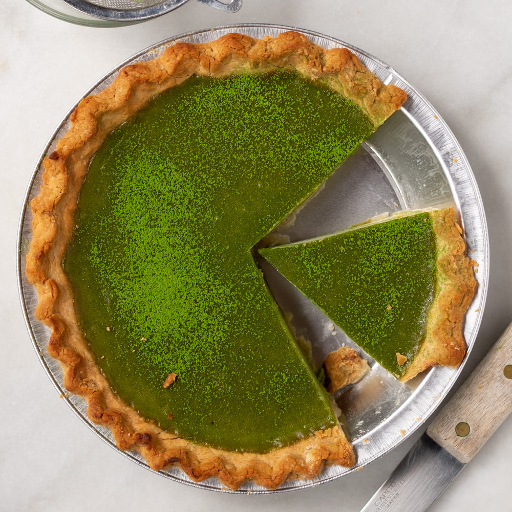 Matcha Custard Pie