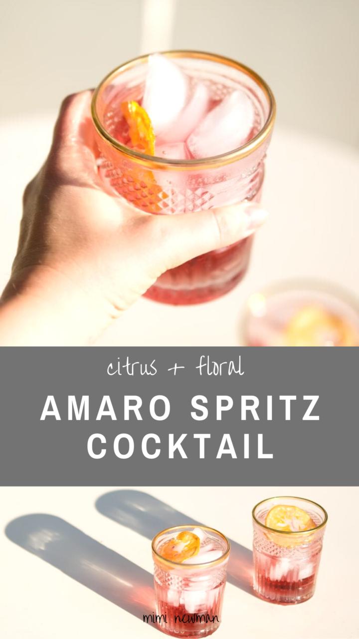 Amaro Spritz Cocktails