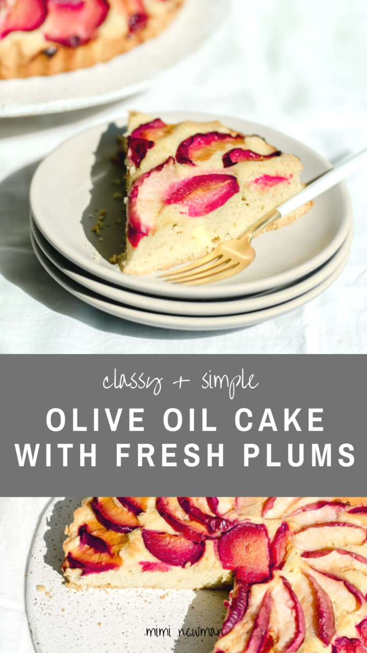 Olive Oil Cake with Fresh Plums