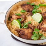 one pan Indian chicken and rice