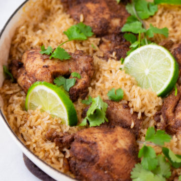 Indian inspired chicken and rice