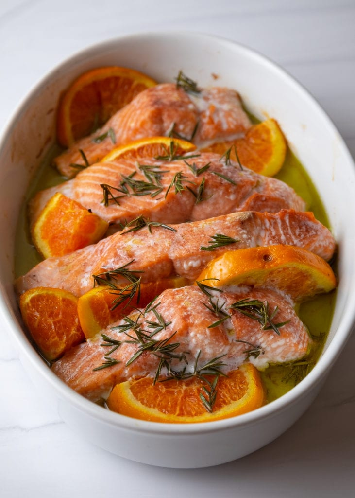 Orange & Rosemary Roasted Salmon