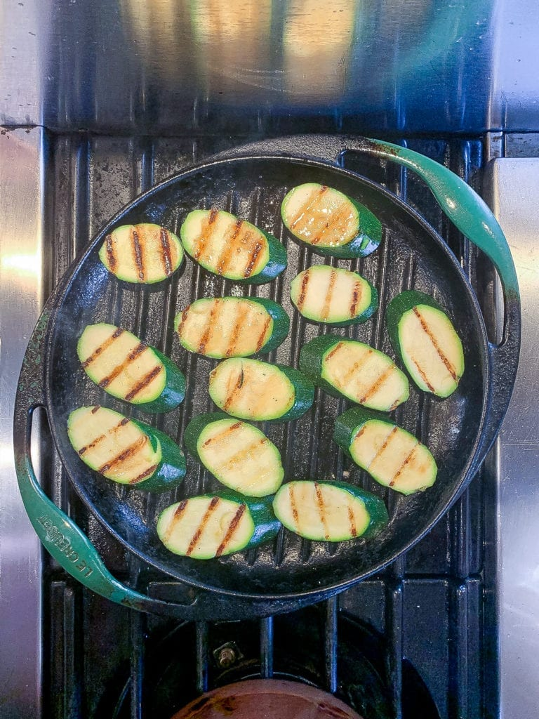 Grilled Zucchini with Ricotta