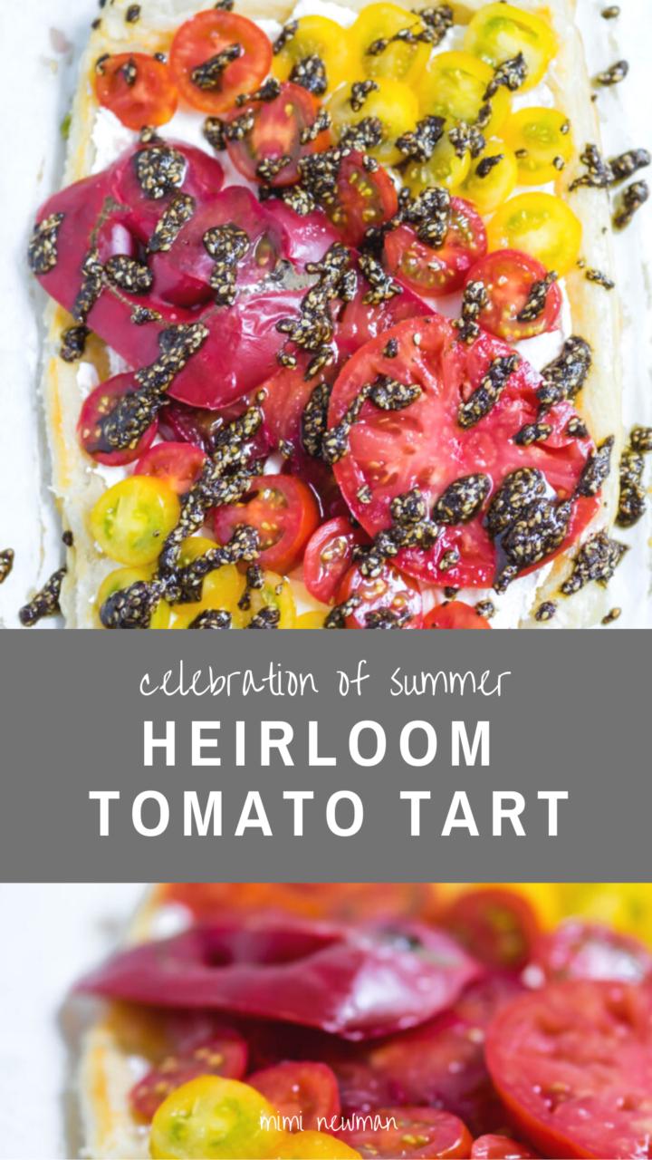 Za'atar Heirloom Tomato Tart