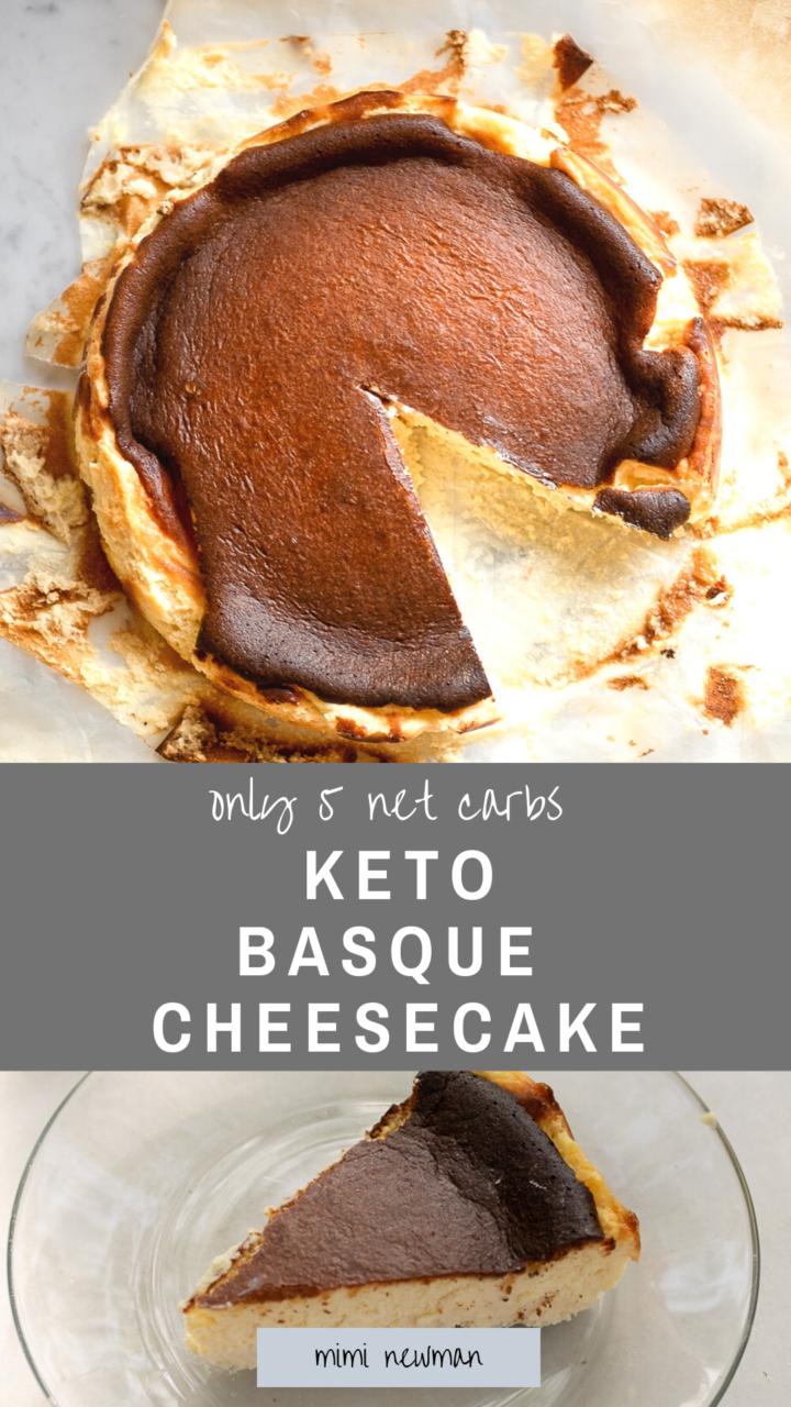Keto Burnt Basque Cheesecake Recipe