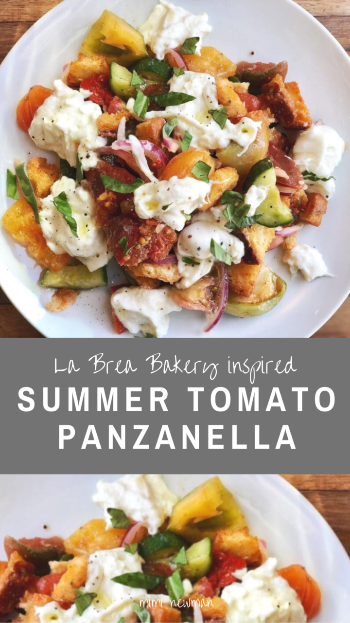 Panzanella with heirloom tomatoes and rustic bread