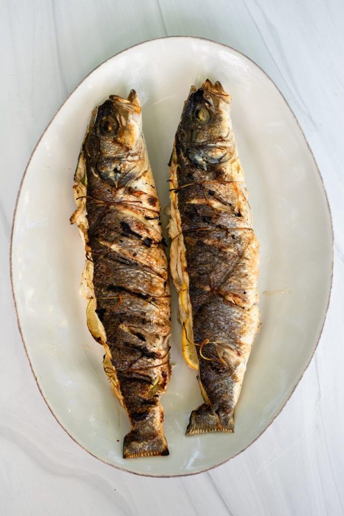 grilled branzino
