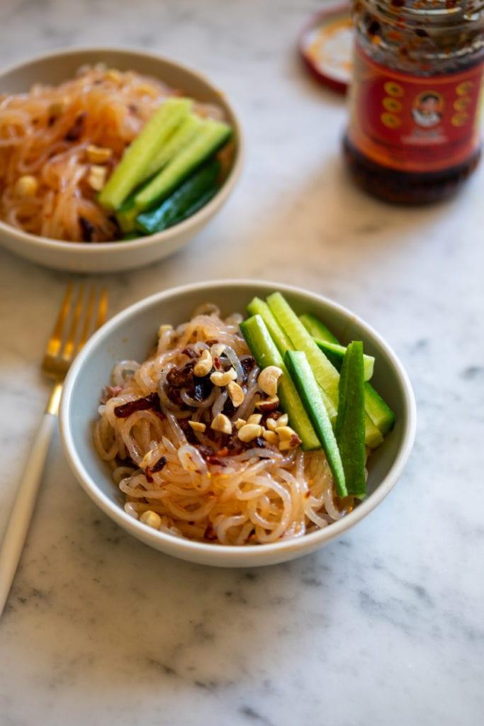 Keto-Friendly Chili Oil Noodles