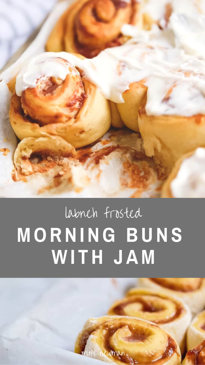 Morning Buns with Jam and Labneh Frosting