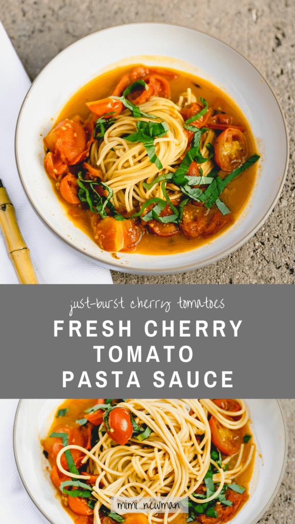 Fresh Cherry Tomato Pasta Sauce
