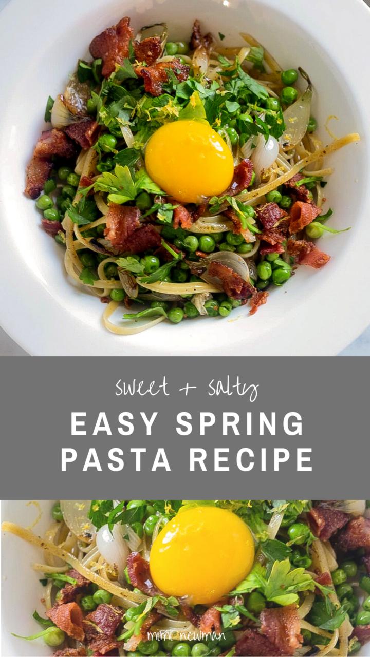 spring pasta with peas