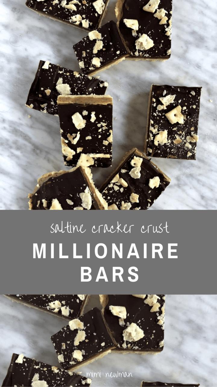 Millionaire Bars with a Saltine Cracker Crust