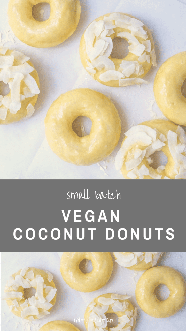 Small Batch Vegan Coconut Donuts