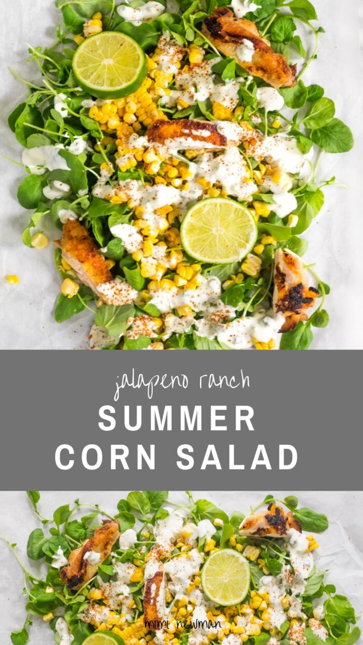 Summer Corn Salad with Jalapeno Ranch