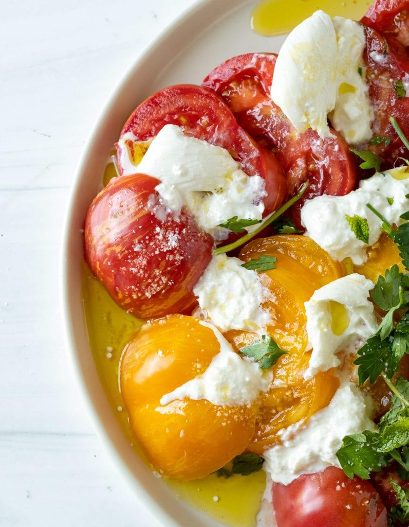 Heirloom Tomato Mozzarella Salad