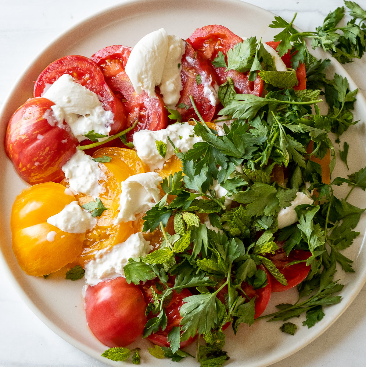 Tomato burrata salad-4